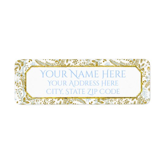 Watercolor Foliage Personalise Return Address Label