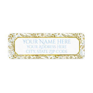 Watercolor Foliage Personalize Return Address Label