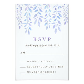 Watercolor Foliage RSVP Card