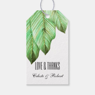 Watercolor Foliage Tropical Gift Tags