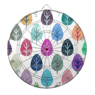 Watercolor Forest Pattern Dartboard