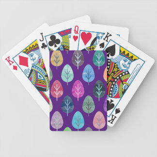 Watercolor Forest Pattern II Bicycle Playing Cards