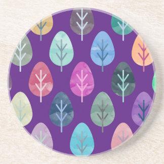 Watercolor Forest Pattern II Coaster