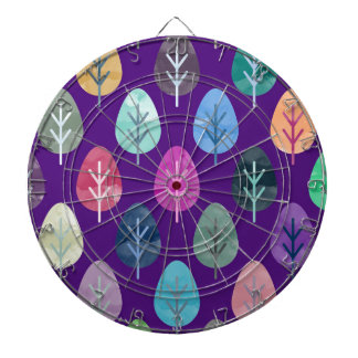 Watercolor Forest Pattern II Dartboard