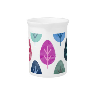 Watercolor Forest Pattern Pitcher