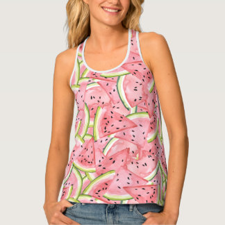 Watercolor Fresh Watermelon Slices Singlet