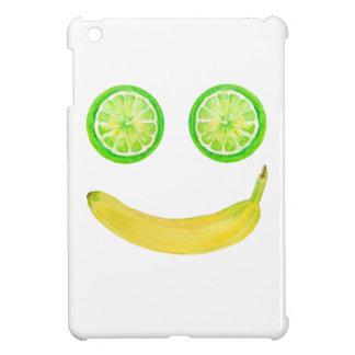 Watercolor fruit smiley face iPad mini case