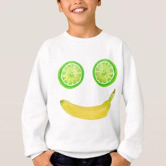 Watercolor fruit smiley face sweatshirt