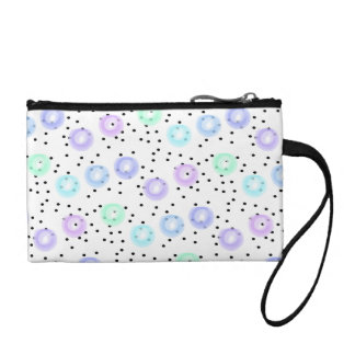 Watercolor Funfetti - Winter Frost Coin Purse