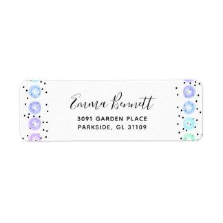 Watercolor Funfetti - Winter Frost Return Address Label