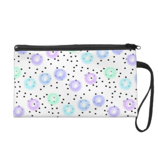 Watercolor Funfetti - Winter Frost Wristlet