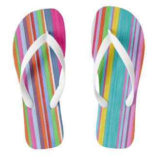 Watercolor funny stripes thongs