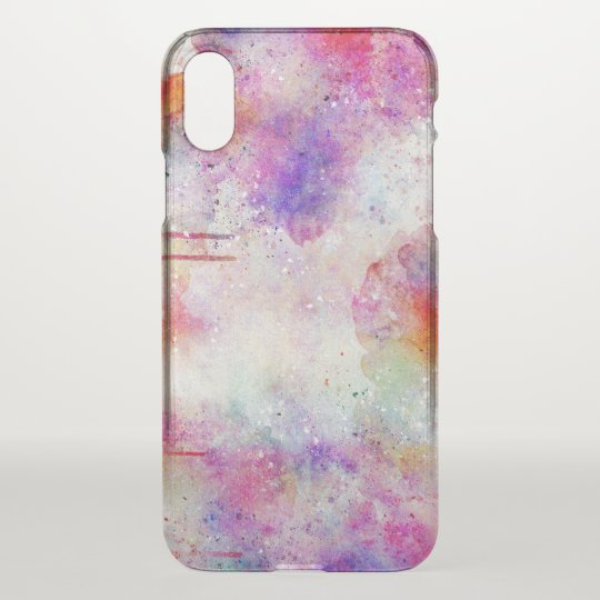 Watercolor Galaxy Pattern Cleary iPhone X Case