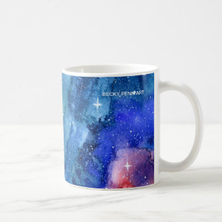 Watercolor Galaxy Space Mug