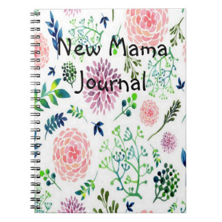 Watercolor Garden new mama Journal
