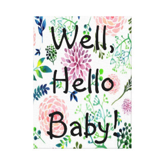 Watercolor Garden Nursery Canvas Wall Art