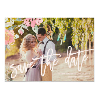 WATERCOLOR GARDEN WEDDING Save the Date Card