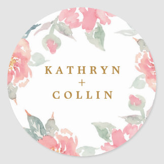 WATERCOLOR GARDEN WEDDING sticker seals