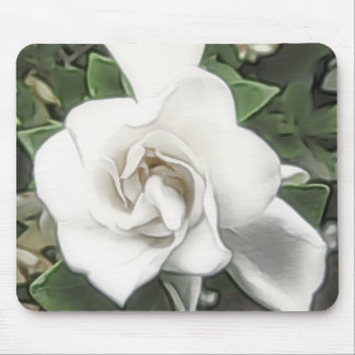 Watercolor Gardenia Mousepad