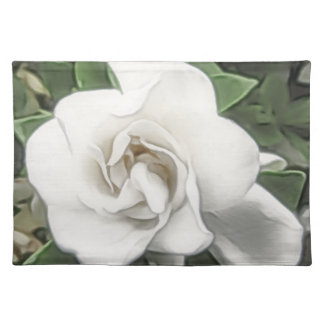 Watercolor Gardenia Placemat