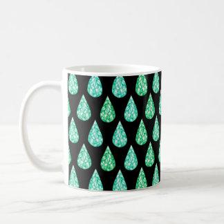Watercolor gemstone coffee mug