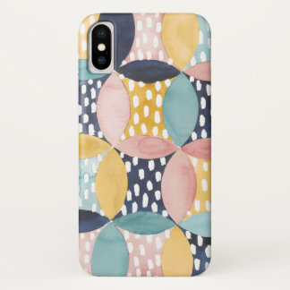 Watercolor Geometric Circles iPhone X Case