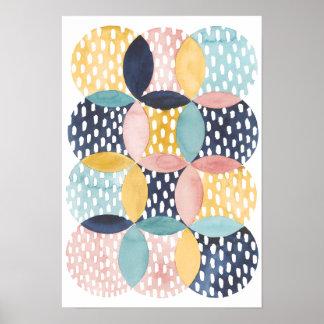 Watercolor Geometric Circles Poster