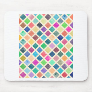 Watercolor geometric pattern mouse pad