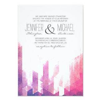 Watercolor Geometric Triangles | Modern Wedding 13 Cm X 18 Cm Invitation Card