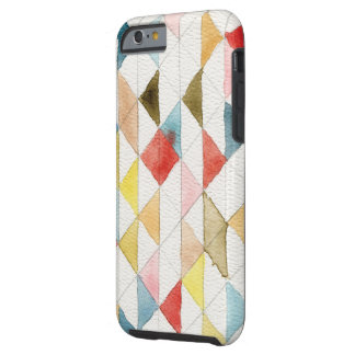 Watercolor Geometric Tribal Triangles iPhone 6 Cas Tough iPhone 6 Case