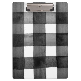 Watercolor Gingham Clipboard