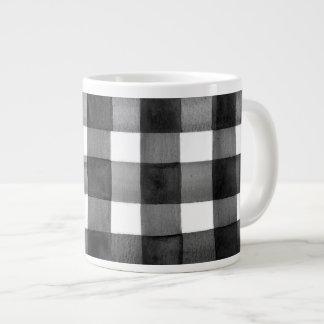 Watercolor Gingham Jumbo Coffee Mug