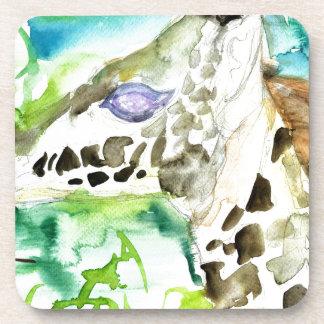 watercolor GIRAFFE .1 Coaster