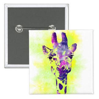 Watercolor Giraffe 2 Button