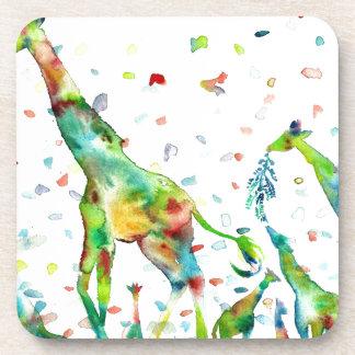 watercolor GIRAFFE .2 Coaster