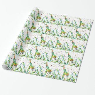 watercolor GIRAFFE .2 Wrapping Paper