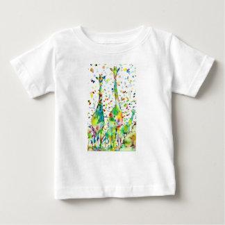 watercolor GIRAFFE .3 Baby T-Shirt