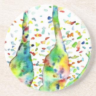 watercolor GIRAFFE .3 Coaster