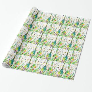 watercolor GIRAFFE .3 Wrapping Paper
