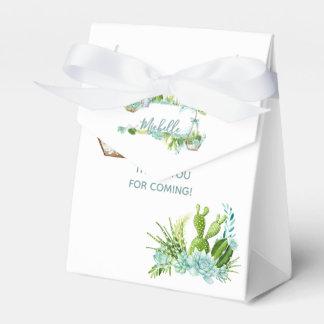 Watercolor Glass Terrarium Succulents Baby Shower Favour Box