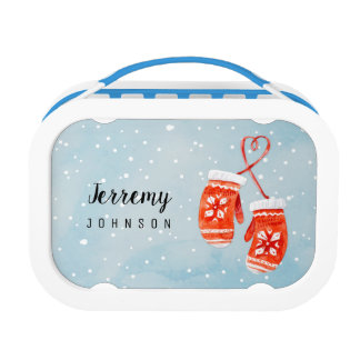 Watercolor Gloves Lunch Box