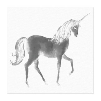 Watercolor Glowing Unicorn Canvas Print