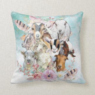 Watercolor GOAT Breeds Home Decor  | GetYerGoat™ Cushion