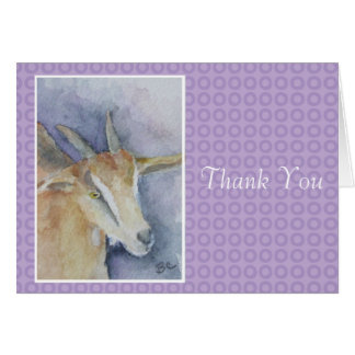 Watercolor Goat Thank You Card