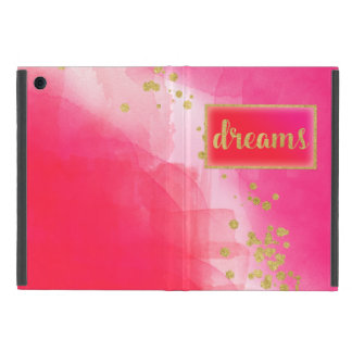 Watercolor Gold Confetti Red Pink Dreams iPad Case
