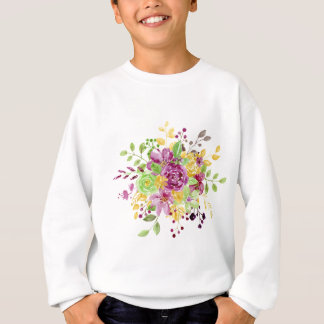 Watercolor gold plummy bouquet sweatshirt