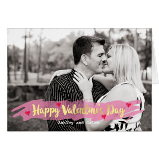 Watercolor Gold Valentine|Photo Card