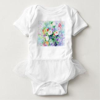 Watercolor Good Mood Flowers Baby Bodysuit