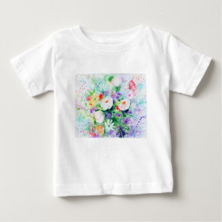 Watercolor Good Mood Flowers Baby T-Shirt