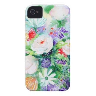Watercolor Good Mood Flowers iPhone 4 Case-Mate Case